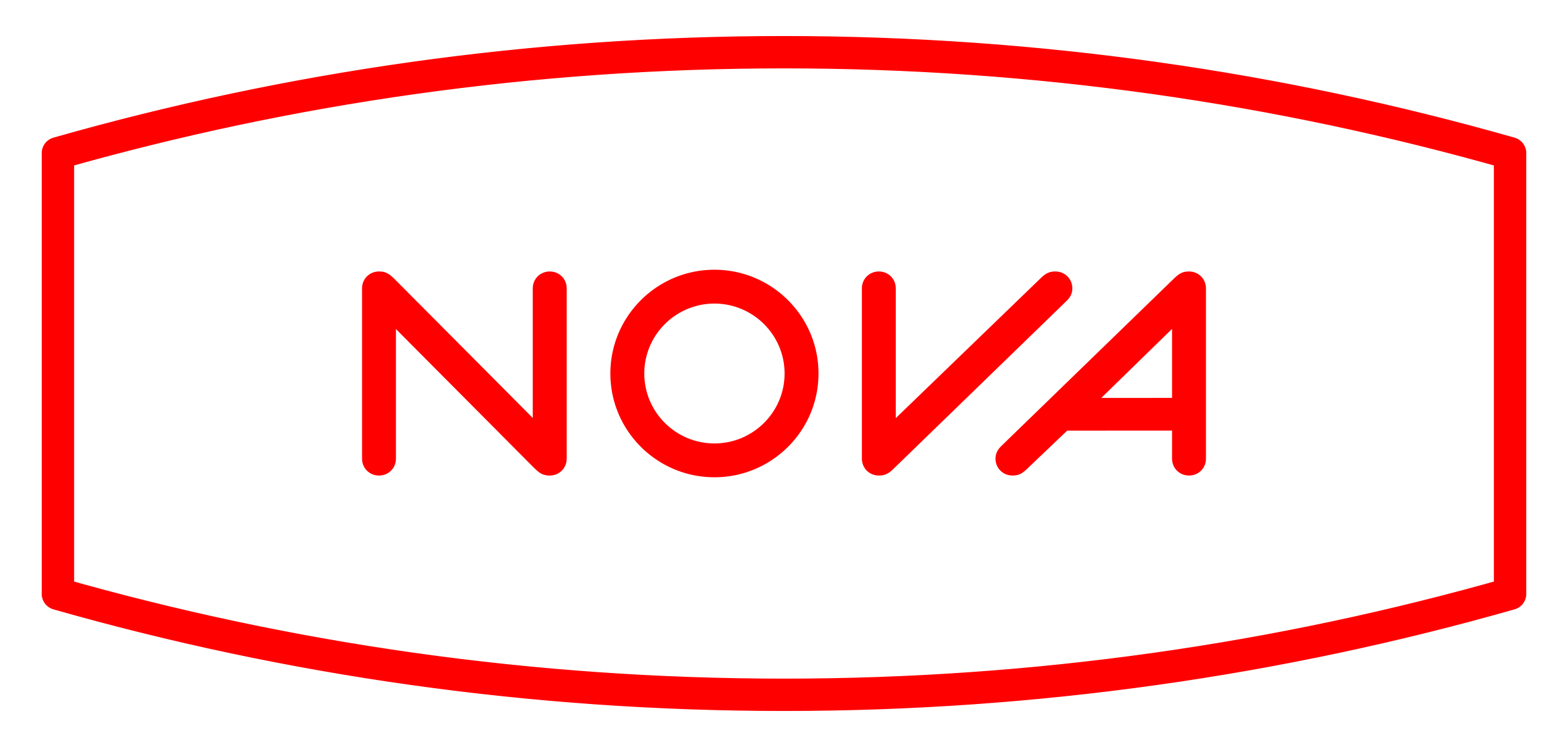 Nova Logo Red White Background